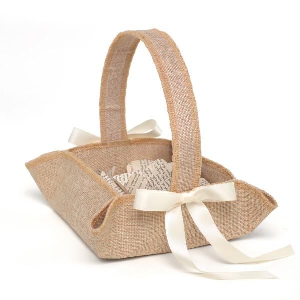 Rustic Country Flower Girl Basket