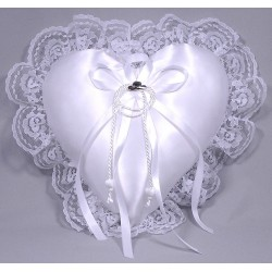 Hats Off Heart Ring Pillow