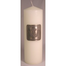 Unity Candle with Silver Plate