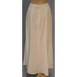 Long Flared Skirt, White