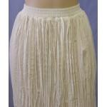 Heart Neck Short Sleeve Bridal Blouse and Broomstick Skirt Set, Ivory