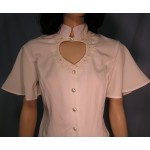 Heart Neck Short Sleeve Bridal Blouse and Broomstick Skirt Set, Ivory