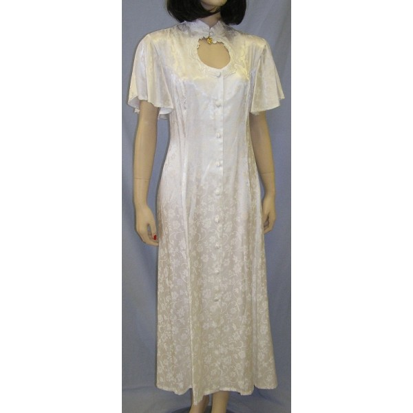 Jacquard Keyhole Neck Dress