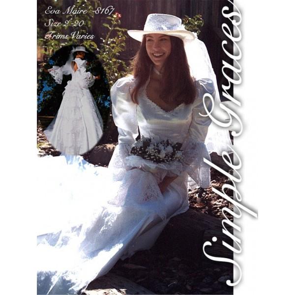 """Simple Graces """"Eva Marie"""" Gown, White Matte Satin, Size 10"""