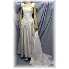 """Simple Graces """"Virginia"""" Western Wedding Gown, White, Size 8"""