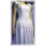 "Simple Graces ""Virginia"" Western Wedding Gown, White, Size 8"