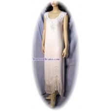 White Sleeveless Crepe Dress