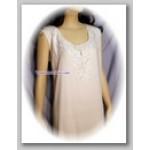 Ivory Sleeveless Crepe Dress
