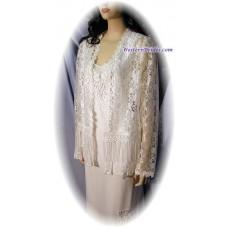 Short Lace Jacket, White