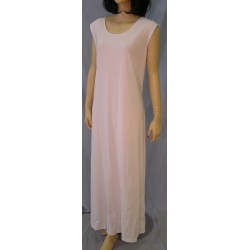 Plain Stretchy Sleeveless Dress, White, Size 2XL
