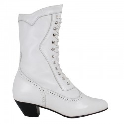 Steeple Bridal Boots, White
