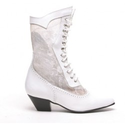 Cathedral Bridal Boots, White