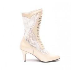 Chapel Bridal Boots, Ivory
