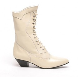 Steeple Bridal Boots, Ivory