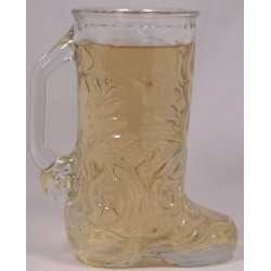 Clear Glass Cowboy Boot Mug
