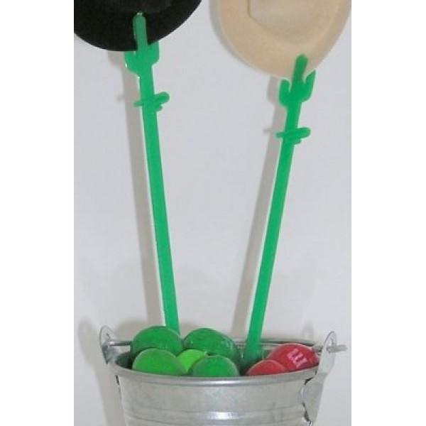 Green Plastic Cactus Card Pick