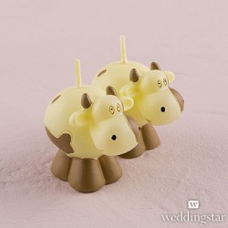 Miniature Cow Candles in Novelty Barn Gift Box