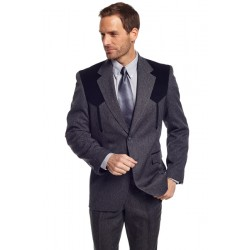 Circle S 'Boise' Western Sport Coat in Heather Charcoal