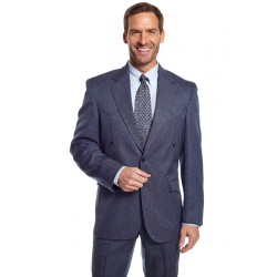 "Circle S 'Vegas"" Western Sport Coat in Heather Navy"