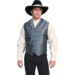 Wah Maker Blue Paisley Vest
