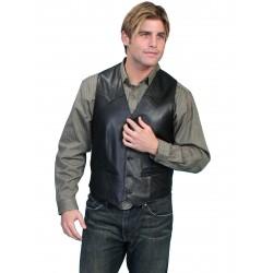 Lambskin Vest in Black