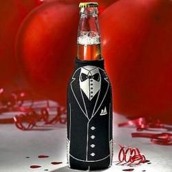 Black Tuxedo Bottle Koozie