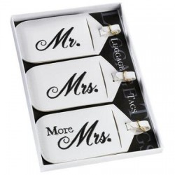 Set of 3 Mr. & Mrs. Luggage Tags