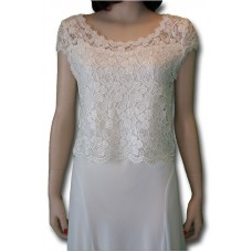 Rose Lace Top, White