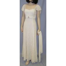Vonda D Chiffon Sleeve Dress in Ivory