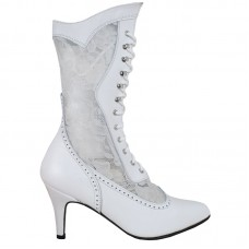 Chapel Bridal Boots, White