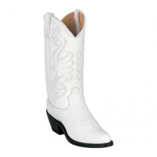 White Leather Cowboy Boots