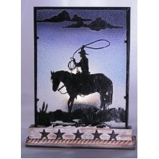 Cowboy Silhouette Votive Holder 1