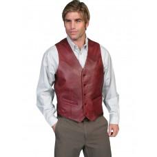 Lambskin Vest in Black Cherry