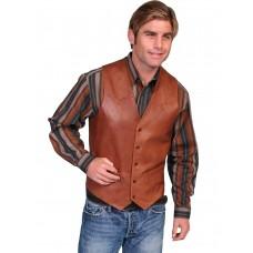 Lambskin Vest in Antique Brown
