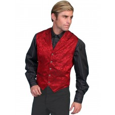 """Wah Maker """"Twin City"""" Vest in Red"""