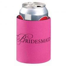 Pink Bridesmaid Can Koozie